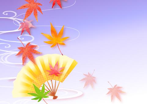Autumn Maple and Folding Fan