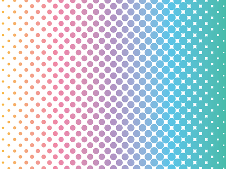 Color halftone background material (rainbow color)