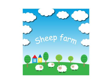 Farm illustration of sheep