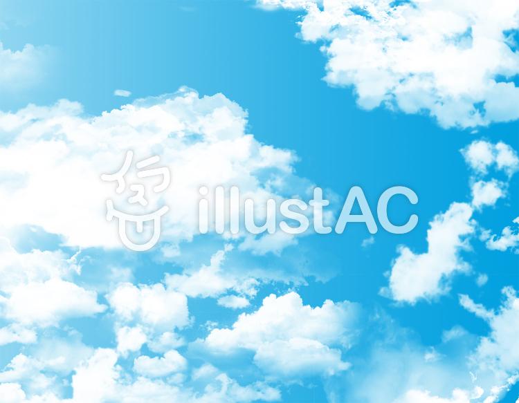 空快晴背景青空壁紙白い雲イラスト壁紙初夏イラスト No 347188無料