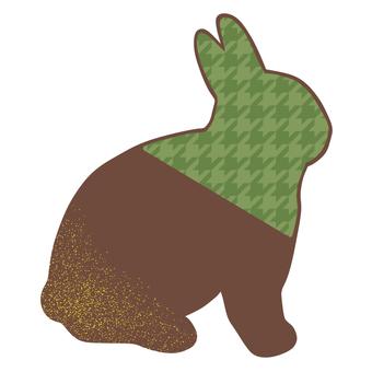 Rabbit chocolate green