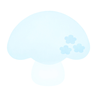Flower mushroom (light blue)