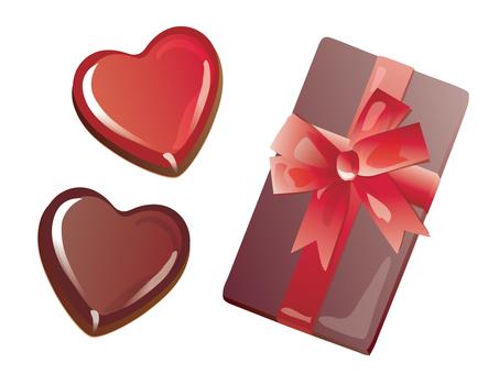 Heart chocolate and box_01