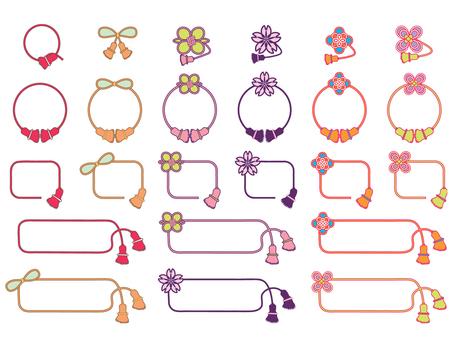 Decorative string _ frame _ colorful
