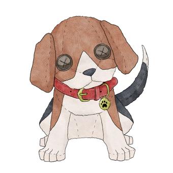 Dog (Beagle) animal stuffed toy illustration
