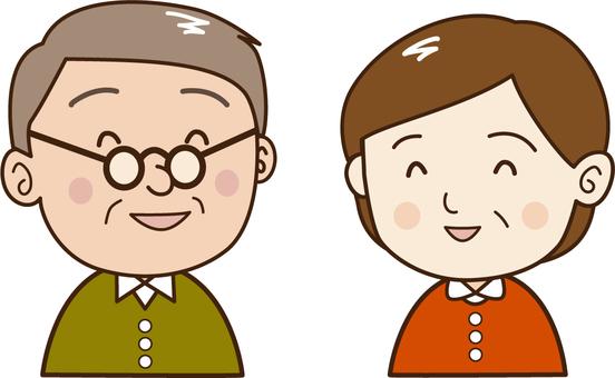Elderly couple-smile 60