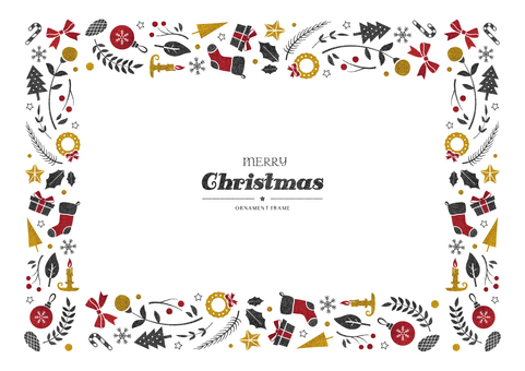 Winter background frame 065 Xmas item