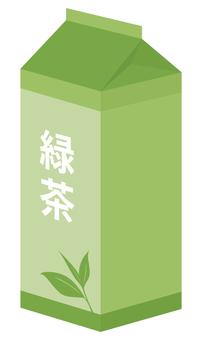 緑茶1リットルの紙パック