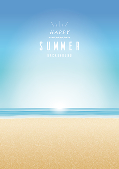 Summer seaside background frame Simple