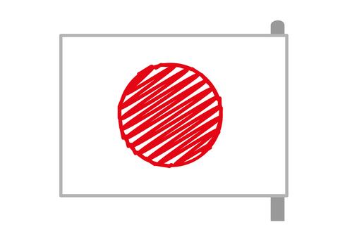 Japan Flag Rough