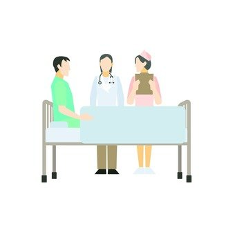 Patient and medical staff