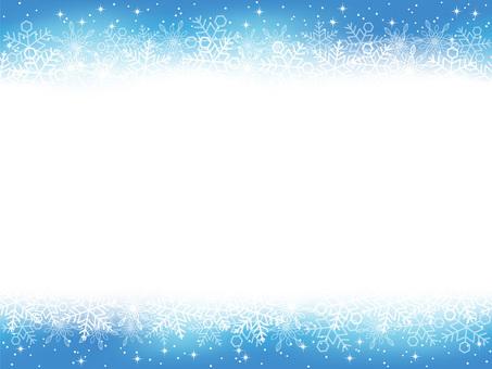 Seamless snow background Blue