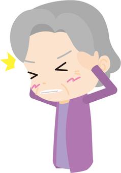 Headache (elderly women)
