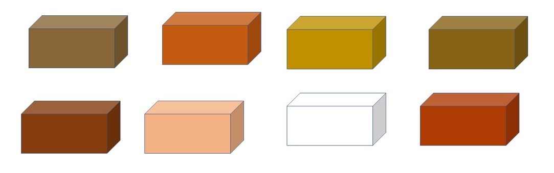 Brick 8 color set