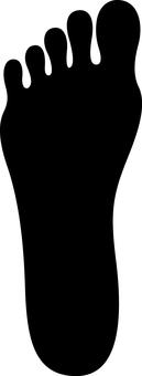 Footprints human silhouette