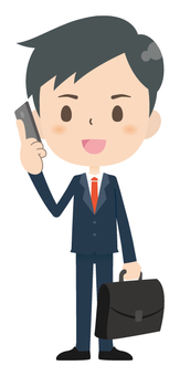 Businessman * Smartphone 01