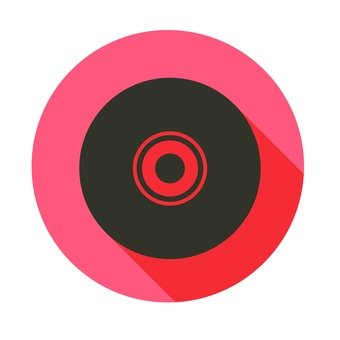 Flat icon - record