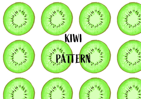 Kiwi pattern hand drawn touch