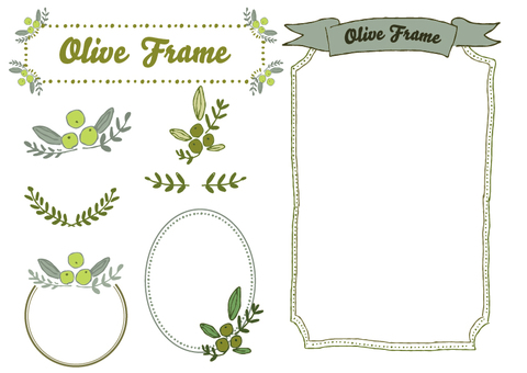 Olive and frameset colored
