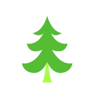 Scandinavian trees (green, fir tree)