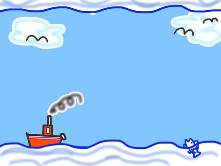 Sea and ship