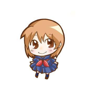 Deformed schoolgirl