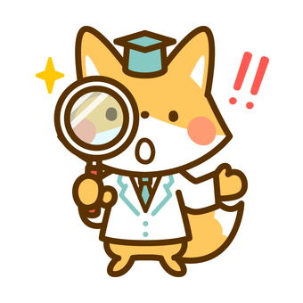 Discovered by Professor Kitsune with a magnifying glass