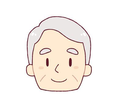 Facial expression - smile (male senior)
