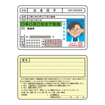 운전 면허증 (개정 후 / 안경 등)