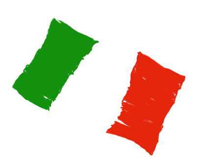 Handwritten Italian flag