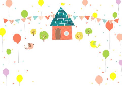 Balloon and bird frame 4