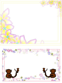 Flower and monkey material
