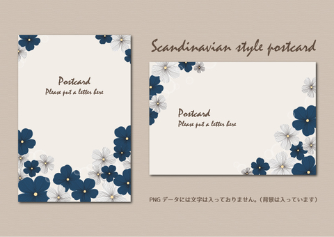 Scandinavian style postcard