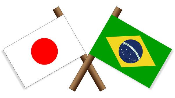 Flag Japan × Brazil