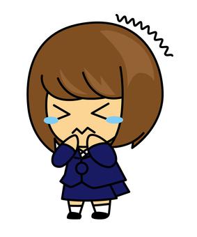 女の子(震える・泣く)