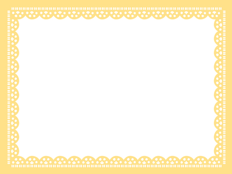Lace frame <Yellow family>