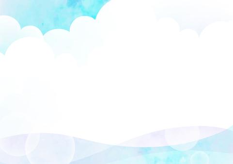 Summer sky and sea frame
