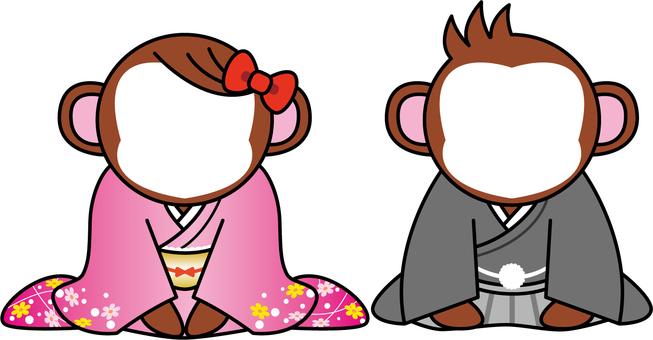 Monkey Osmes Kimono