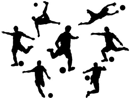 サッカー_シルエット