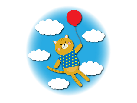 Balloon and cat