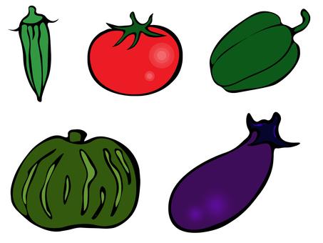 Vegetable color set 170803-04