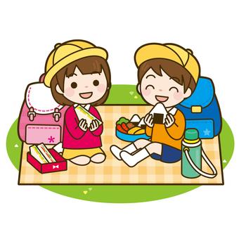 Children to eat lunch