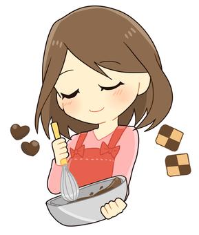 Making sweets and making ladies (making)