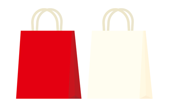 Paper bag (red and white)