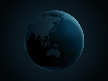 Earth dot map Asia 1 dark