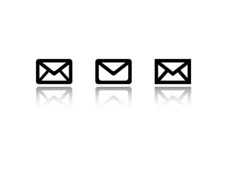 Simple mail icon (reflection)