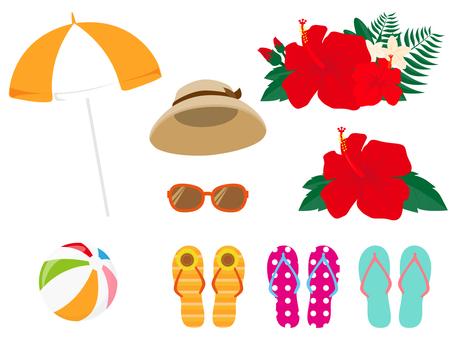 Simple summer motifs various 2