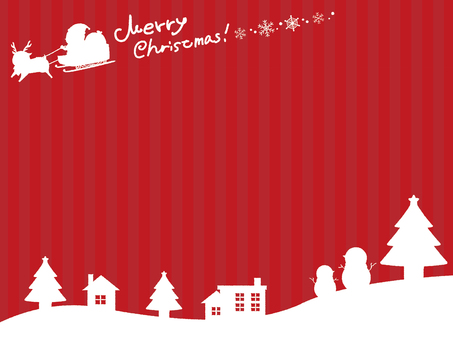 Christmas silhouette background 6