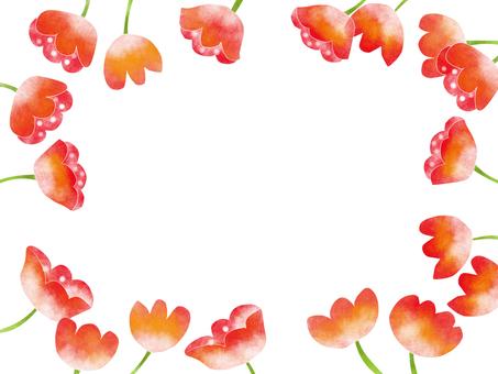 붉은 꽃 5