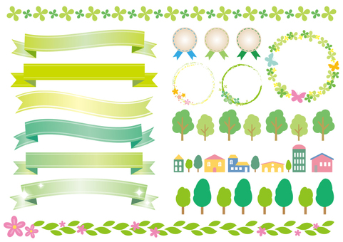 Decorative material 027 Ribbon set